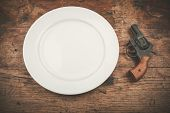 Gun And Plate