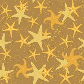 Sea Stars Seamless Pattern