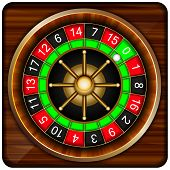 image of roulette table  - play roulette abstract vector illustration isolated on background eps 10 - JPG