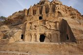 Monestery in Petra, Jordan - as it would on old picture