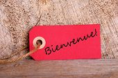 Red Tag With Bienvenue