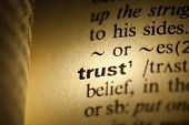 Word Trust in a dictionary