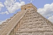 The big Kukulkan pyramid in Chichen Izta, Yucatan, Mexico