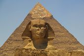 Pyramid of Khafre (Chepren) and the Sphinx in Giza - Cairo - Egypt