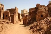 Old part (citadel) of desert town Mut in Dakhla oazis in Egypt, people still live here