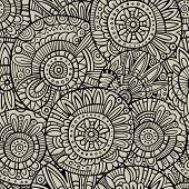 Vector decorative doodles seamless pattern