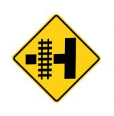 road sign - Railroad crossing