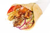 picture of gyro  - greek gyros stuffed with meat - JPG