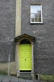 Green Victorian Door