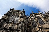 Aachen Cathedral Against A Sky In Germany