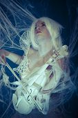 Music, Beautiful violinist trapped in a spider web