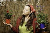 Woman Gardening - Decision