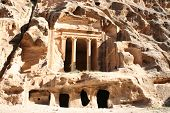 The Treasury In The Ancient Jordanian City Of Petra, Jordan.