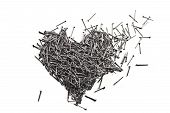 Love Heart Made Of Iron Nails
