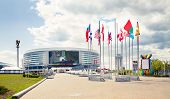 MINSK, BELARUS - MAY 4 - Minsk Arena on May 4, 2014 in Belarus. Ice Hockey Stadium.
