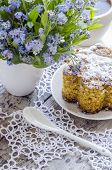 image of eat me  - Polenta cake with cup of Coffee - JPG