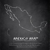 Mexico map blackboard chalkboard vector