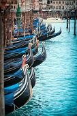 View of the canal on the island of Murano near Venice in Italy