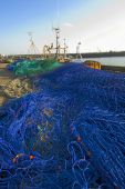 Fishing nets on quayside