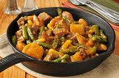 Beef, Bean And Potato Skillet Dinner