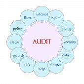 Audit Circular Word Concept