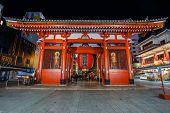 Kaminarimon (Thundder Gate) at Sensoji Temple in Tokyo
