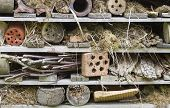 Rustic insect house or a bug hotel