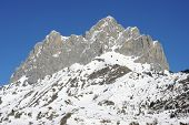 Foratata peak in Tena Valley, Pyrenees, Huesca, Aragon, Spain