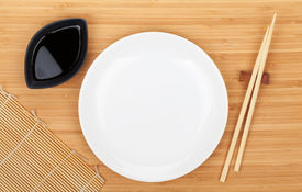 picture of soy sauce  - Empty plate - JPG