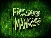 Procurement Management Words Isolated On Digital Background