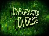 Information Overload Words Isolated On Digital Background