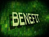 Benefit Word Isolated On Digital Background