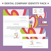 Abstract vector dental identity concept. Logotype template for branding and corporate design