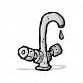 cartoon dripping faucet