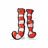 cartoon stripy socks