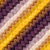 Diagonal Violet And Yellow Chevron