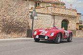 Ferrari 500 Tr Spider Scaglietti (1956) Runs In Mille Miglia 2014