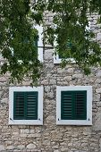 Green Window Shutter