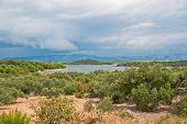 Islands With Dramatic Cloudy Sky