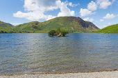 Crummock Water and mountain Lake District North West England UK between Buttermere and Loweswater
