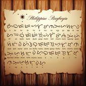 Philippine Baybayin Script