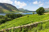 UK tourist attraction Crummock Water Lake District North West England UK