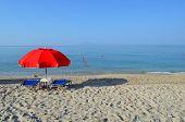 Red Sun Umbrella