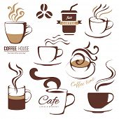 coffee and cafe logo templates set