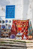 Colorful Oriental Pottery Bazaar (tunisia)
