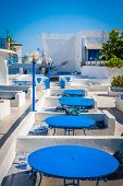 Tunisian Restaurant's Close-up. Sidi Bou Said - Town In Northern Tunisia Known For Its Blue And Whit