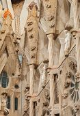 Sagrada Familia Facade Fragment With Sculptures