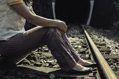 Woman On Railway Road
