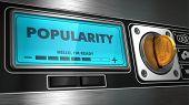 Popularity on Display of Vending Machine.