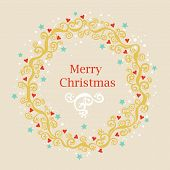 Greeting Card With Christmas Wreath